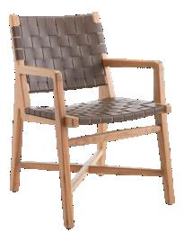 Taj Leather Strap Arm Chair