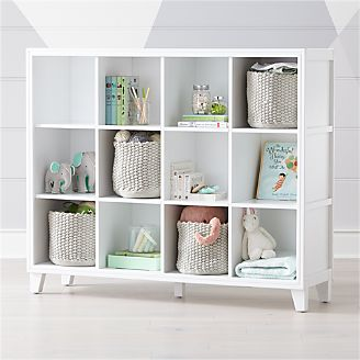 2 In 1 White 12 Cube Bookcase