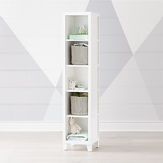 2 In 1 White 5 Cube Bookcase