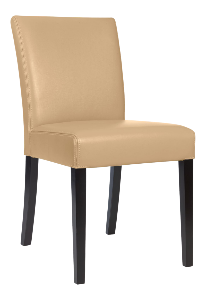 Lowe Café Latte Leather Dining Chair