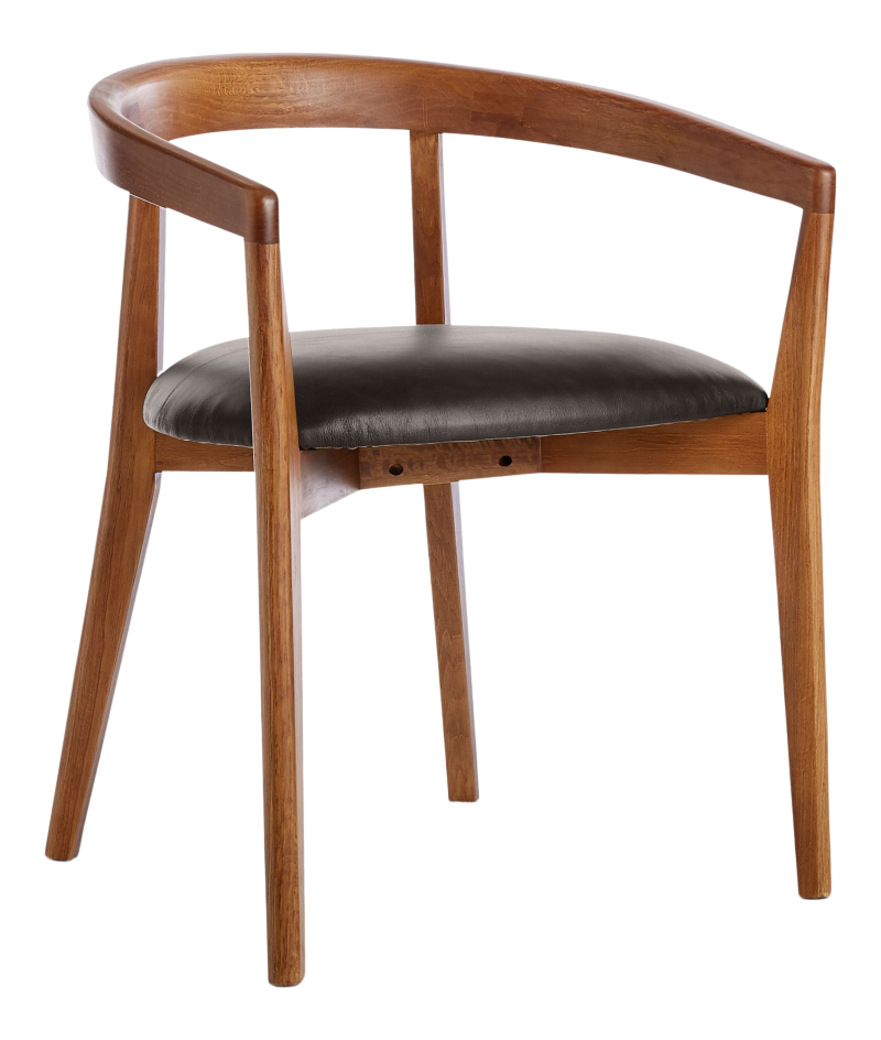 Cullen Shiitake Granite Round Back Dining Chair