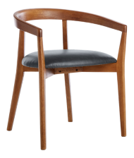 Cullen Shiitake Oceana Round Back Dining Chair