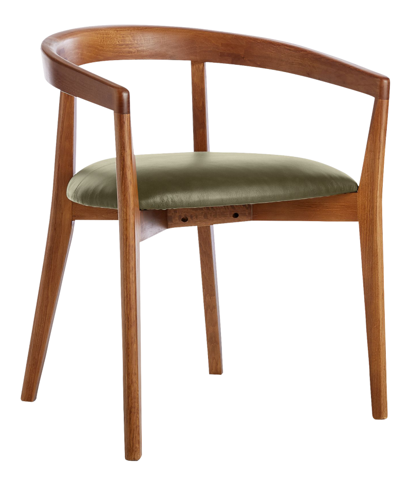 Cullen Shiitake Olive Round Back Dining Chair