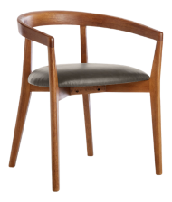 Cullen Shiitake Saddle Round Back Dining Chair