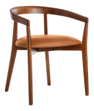 Cullen Shiitake Whiskey Round Back Dining Chair