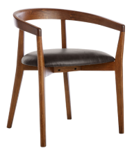 Cullen Dark Stain Granite Round Back Dining Chair