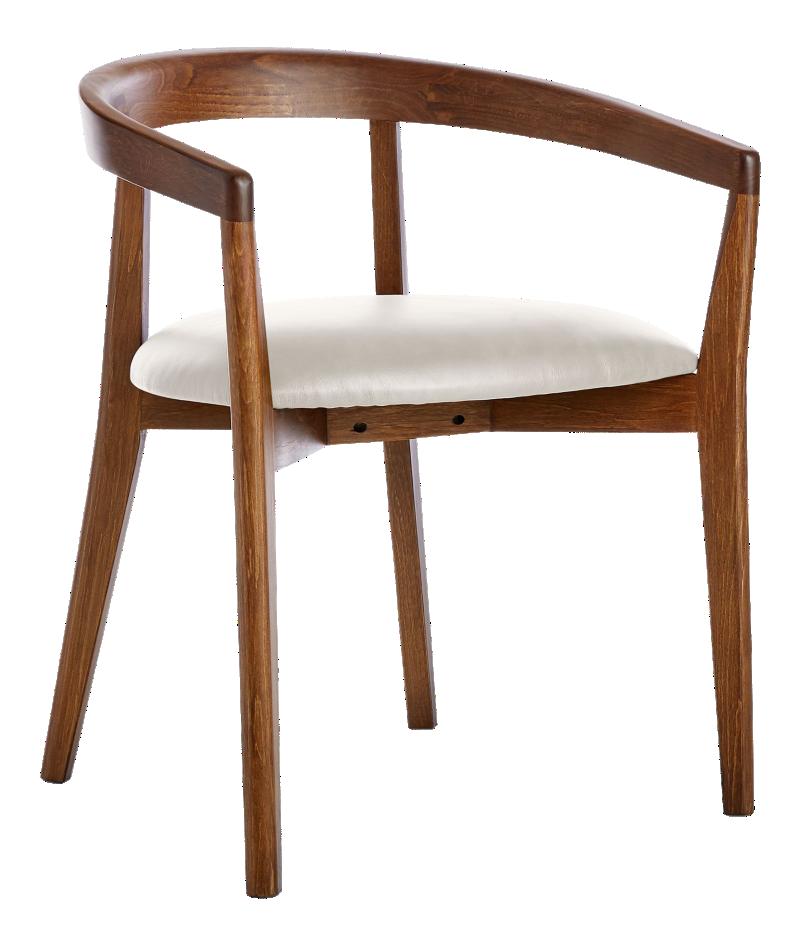 Cullen Dark Stain Sand Round Back Dining Chair