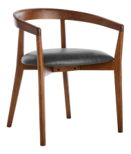 Cullen Dark Stain Viola Round Back Dining Chair