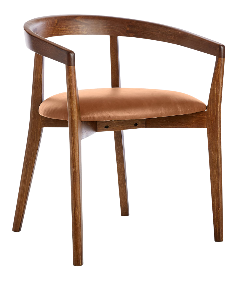 Cullen Dark Stain Whiskey Round Back Dining Chair