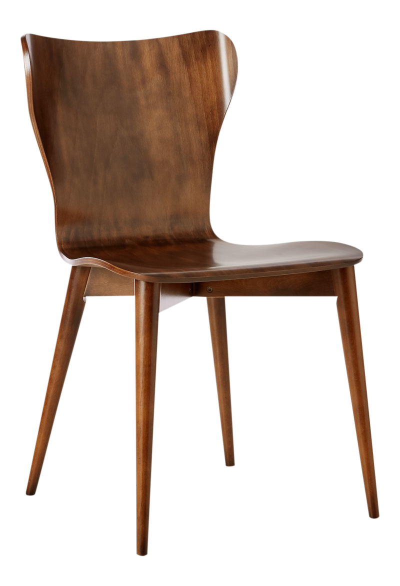 Brera Nero Noce Bentwood Dining Chair