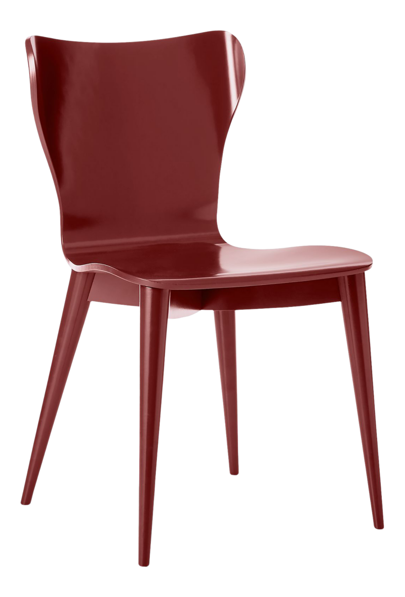 Brera Red Bentwood Dining Chair