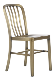 Delta Brass Dining Chair and Cushion