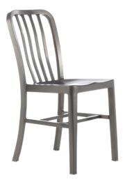 Delta Nickel Dining Chair and Cushion