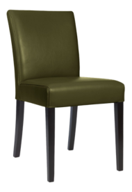 Lowe Olive Leather Dining Chair
