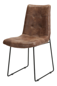 Naomi Vintage Tobacco Tufted Dining Chair