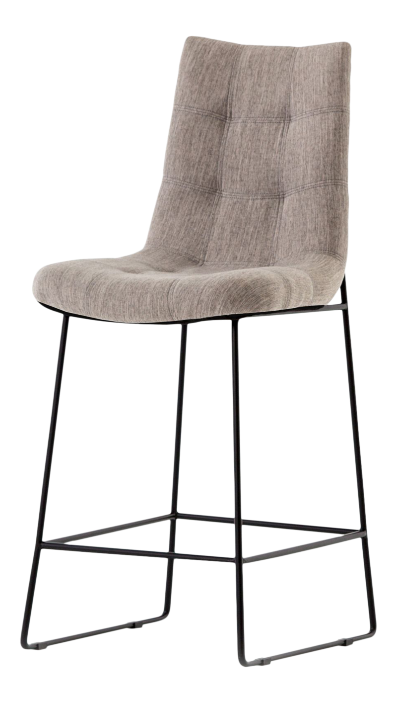 Naomi Dempsey Flannel Tufted Counter Stool