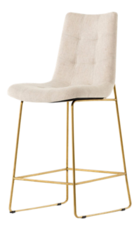 Naomi Dempsey Flax Tufted Counter Stool