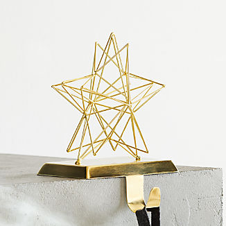 3D Star Gold Stocking Hook