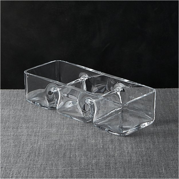 Three-Part Rectangle Dish - Image 1 of 7