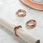 3-Ring Copper Napkin Ring