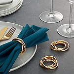 3-Ring Gold Napkin Ring