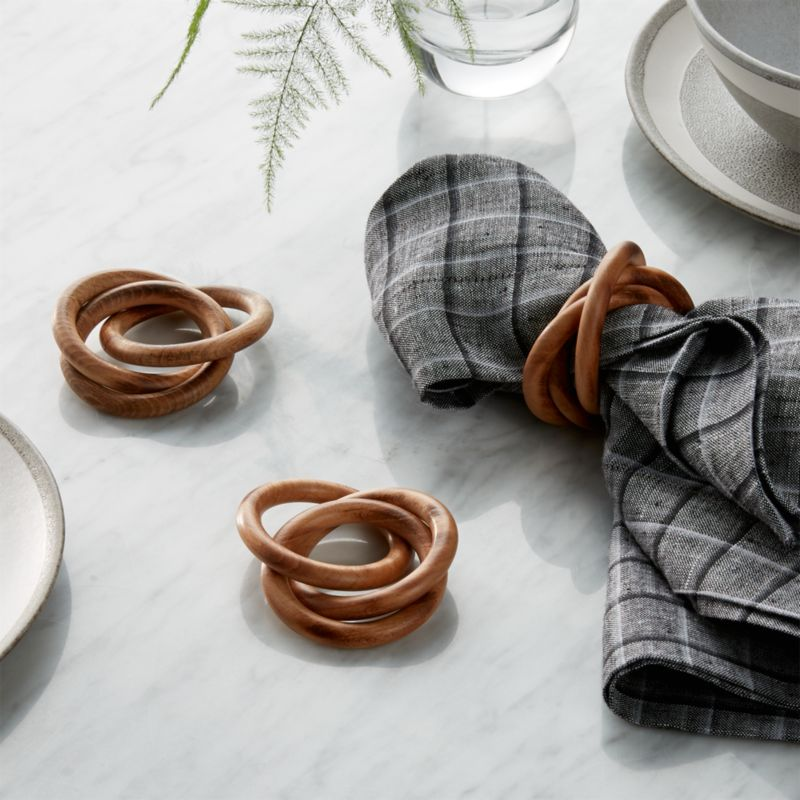 3 Ring Wood Napkin Ring Reviews Crate And Barrel