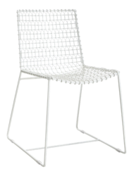 Tig Indoor/Outdoor White Metal Dining Chair