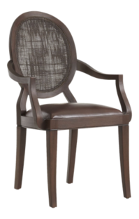 Winnetka Dark Mahogany Dining Arm Chair
