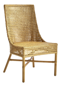 Maluku Natural Rattan Dining Side Chair and Cushion