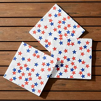 4th Of July Lunch Napkin, Set of 20