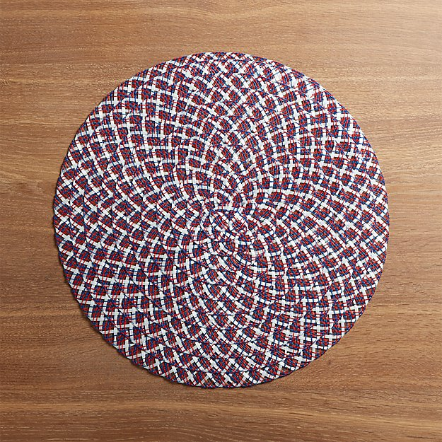 4th of July Round Placemat