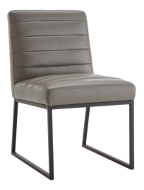 Channel Leather Side Chair