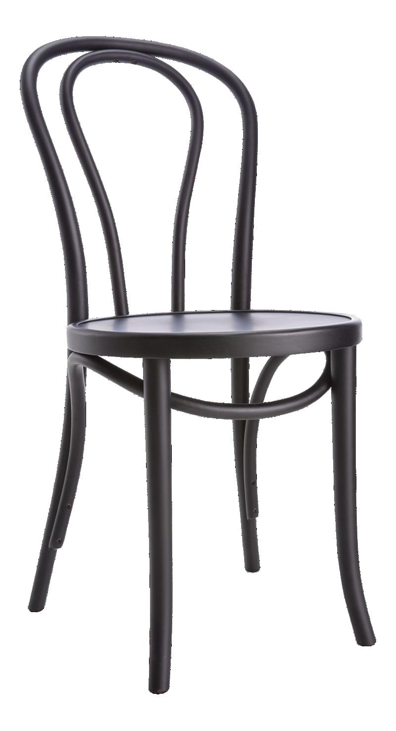 Vienna Matte Black Dining Chair and Cushion