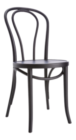 Vienna Matte Black Dining Chair