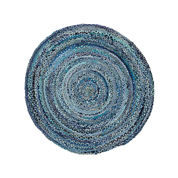 Rag Rug Prices: 5' Blue Round Rag Rug + Reviews