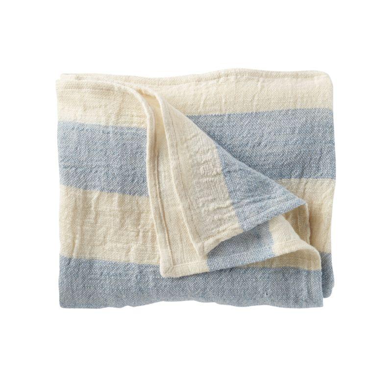 Kids Blankets Light Blue Grey Striped Throw Blanket
