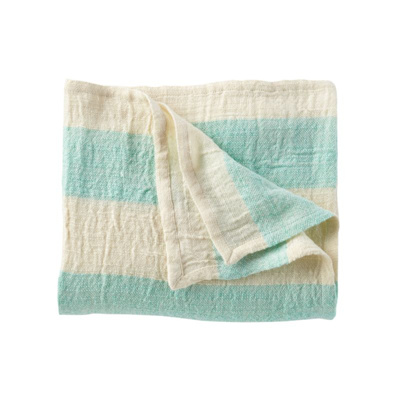 Kids Blankets Aqua Striped Throw Blanket Crate And Barrel