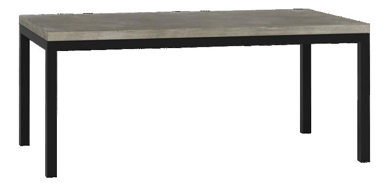 Marvelous Parsons Concrete Top Dark Steel Base 72X42 Dining Table Uwap Interior Chair Design Uwaporg