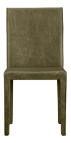 Folio Olive Top-Grain Leather Dining Chair