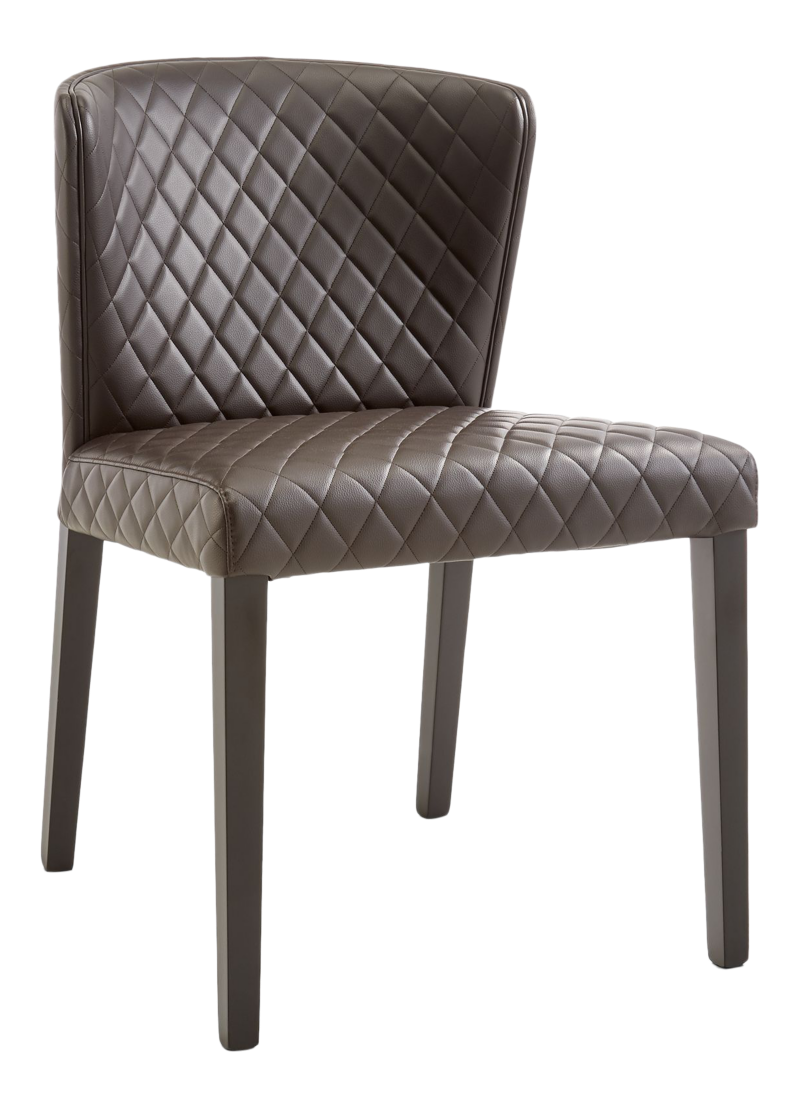 Curran Quilted Chocolate Dining Chair