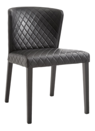 Curran Quilted Onyx Dining Chair