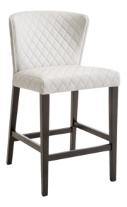 Curran Quilted Oyster Counter Stool