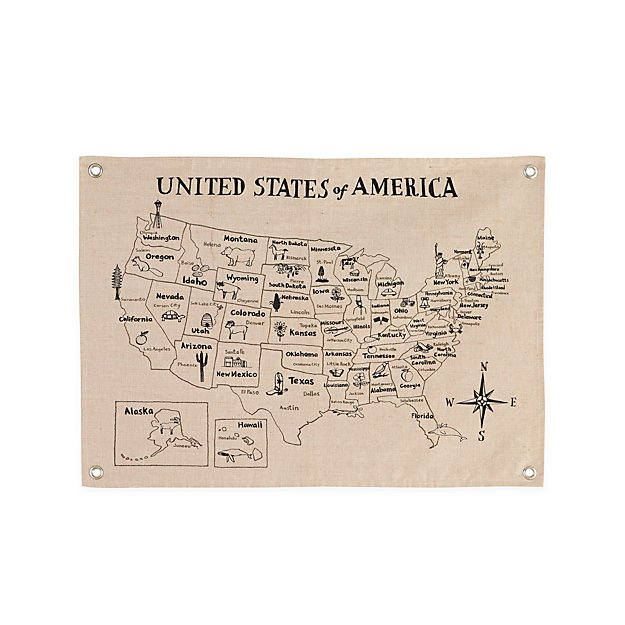 Find A Map Of The United States.Canvas United States Map
