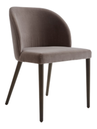 Camille Taupe Italian Dining Chair