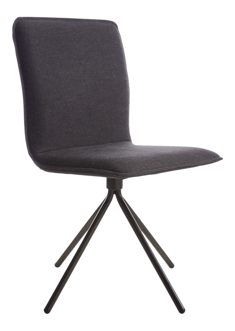Whirl Anthracite Swivel Dining Chair