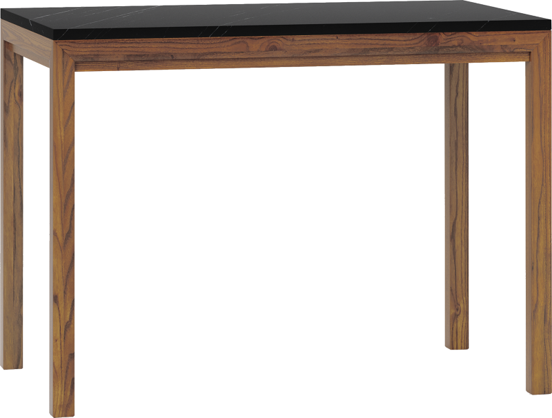 Parsons Black Marble Top Elm Base 48x28 High Dining Table
