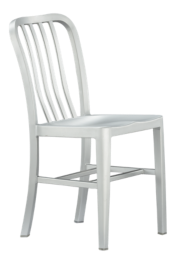 Delta Aluminum Dining Chair and Cushion