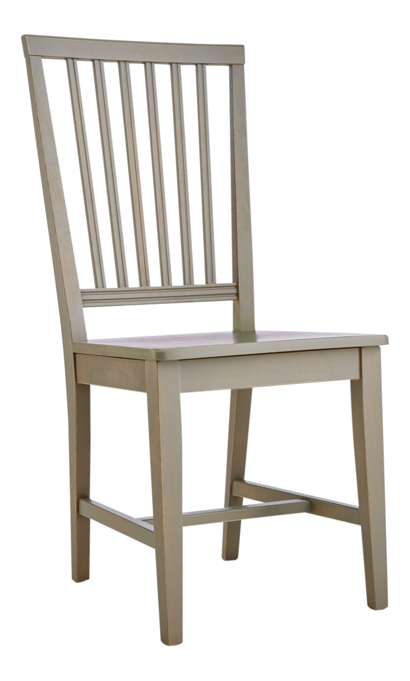 Village pinot grigio wood dining chair