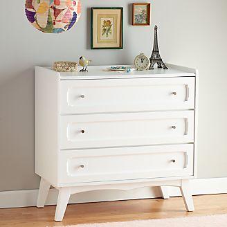 Kids Monarch White 3 Drawer Dresser