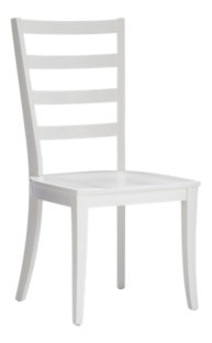 Harper White Ladder Back Dining Chair and Sand Cushion